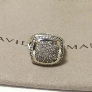 David Yurman SS Albion 14mm Pave Diamond Ring